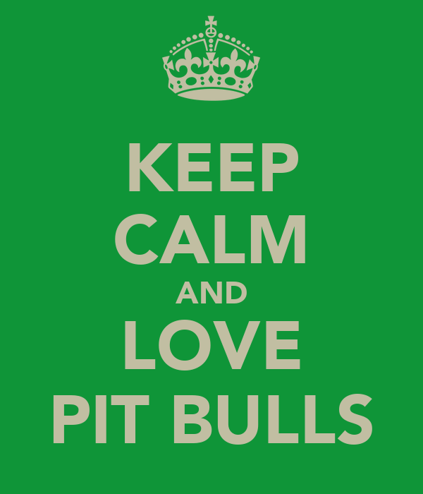 KEEP CALM AND LOVE PIT BULLS