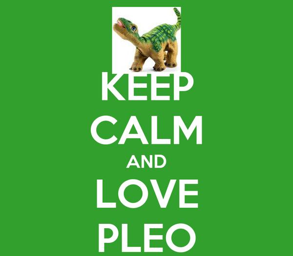 KEEP CALM AND LOVE PLEO