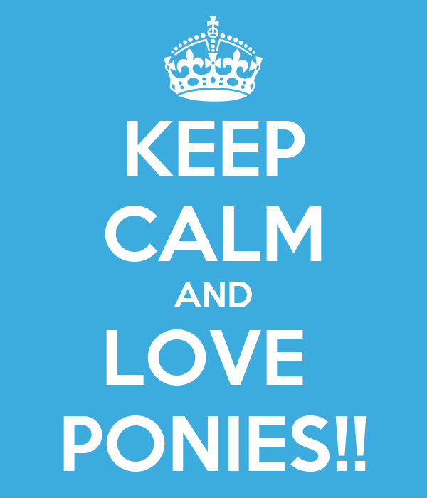 KEEP CALM AND LOVE  PONIES!!