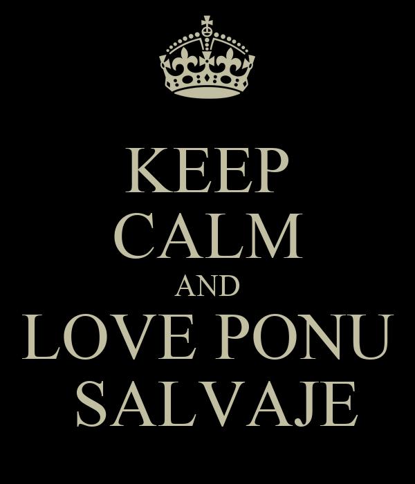 KEEP CALM AND LOVE PONU  SALVAJE