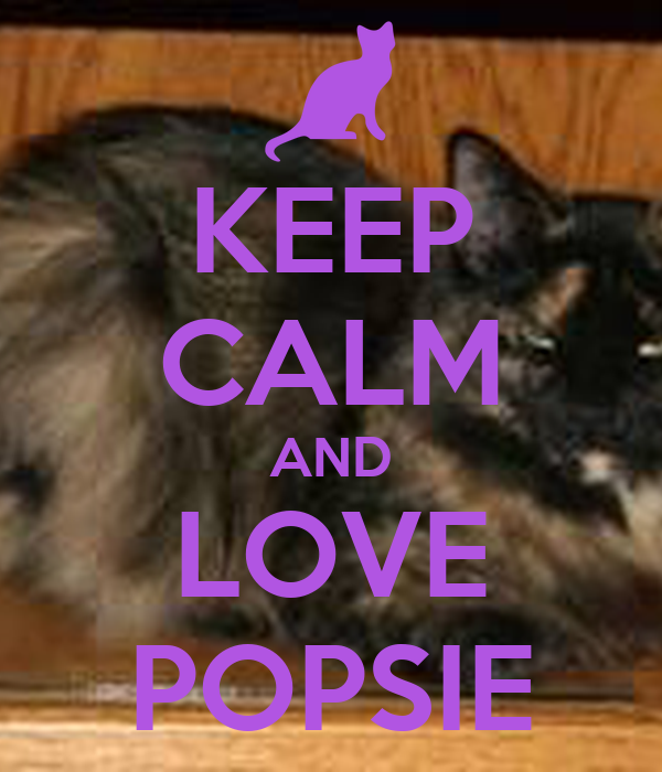 KEEP CALM AND LOVE POPSIE