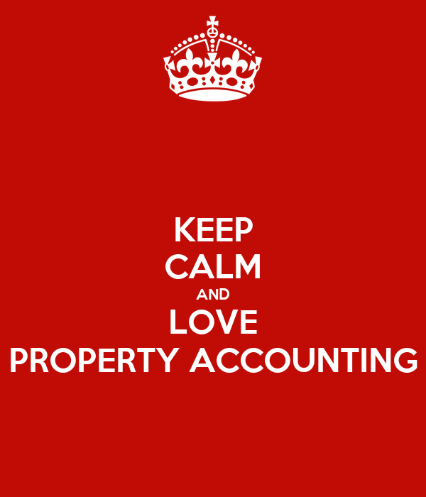 Bookkepping Andd Property Development : Keep calm and love property accounting poster flor