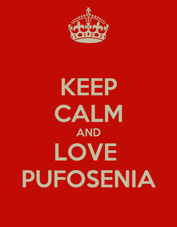 KEEP CALM AND LOVE  PUFOSENIA