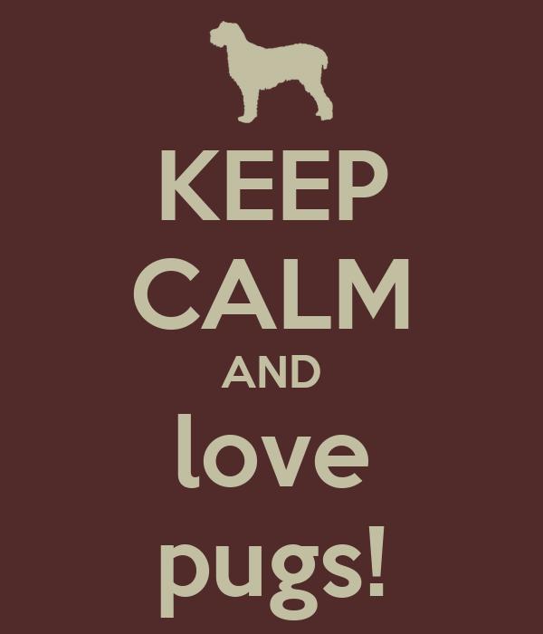 KEEP CALM AND love pugs!