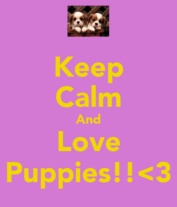 Keep Calm And Love Puppies!!<3