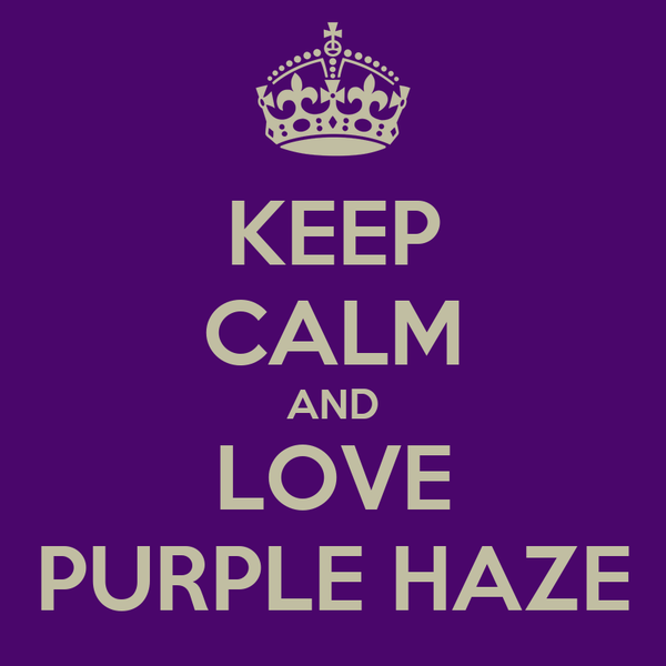 KEEP CALM AND LOVE PURPLE HAZE