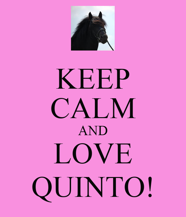KEEP CALM AND LOVE QUINTO!
