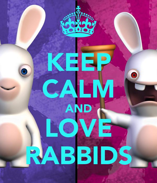 KEEP CALM AND LOVE RABBIDS