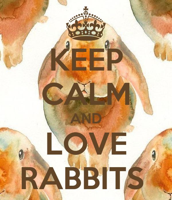 KEEP CALM AND LOVE RABBITS