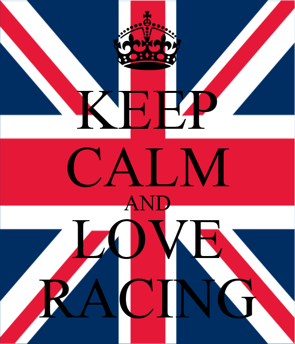 KEEP CALM AND LOVE RACING