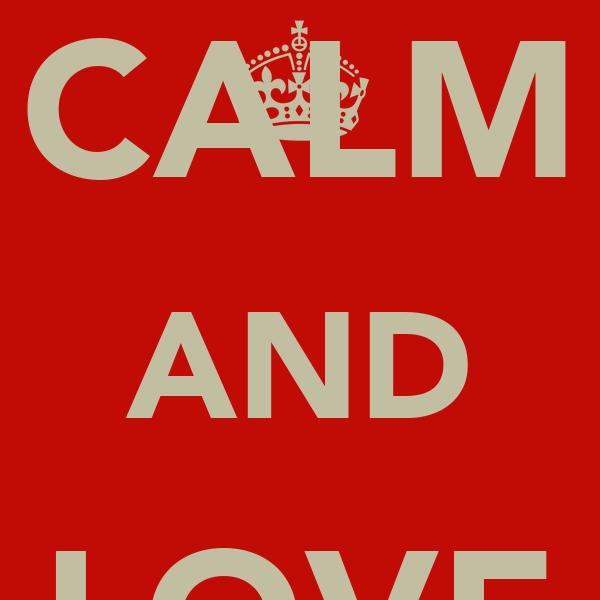 KEEP CALM AND LOVE RAGLAN