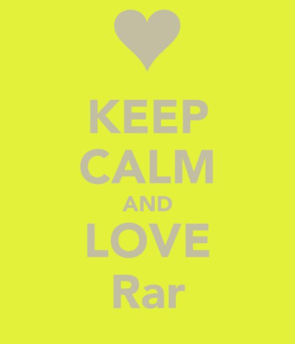 KEEP CALM AND LOVE Rar