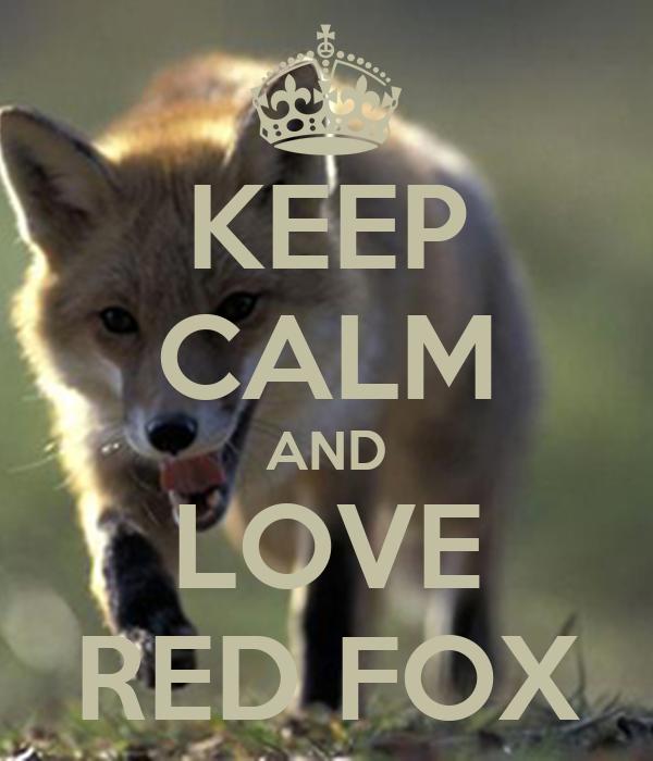 KEEP CALM AND LOVE RED FOX