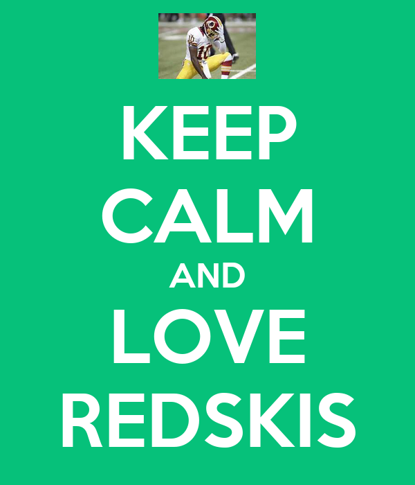 KEEP CALM AND LOVE REDSKIS