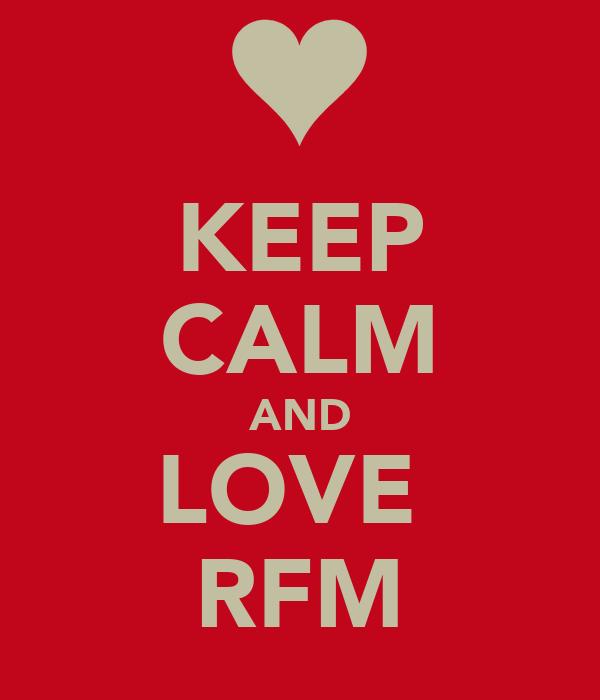KEEP CALM AND LOVE  RFM