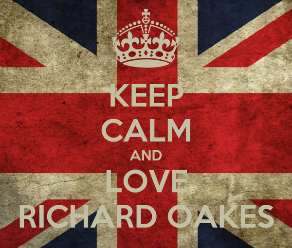 KEEP CALM AND LOVE RICHARD OAKES
