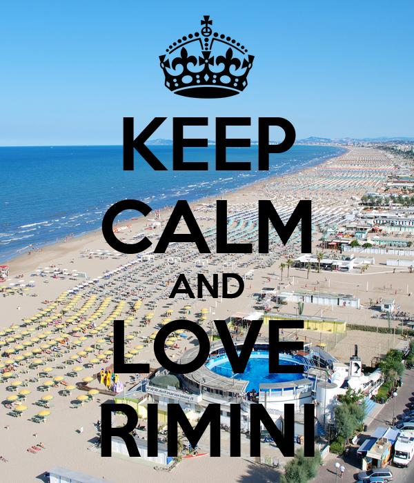 KEEP CALM AND LOVE RIMINI