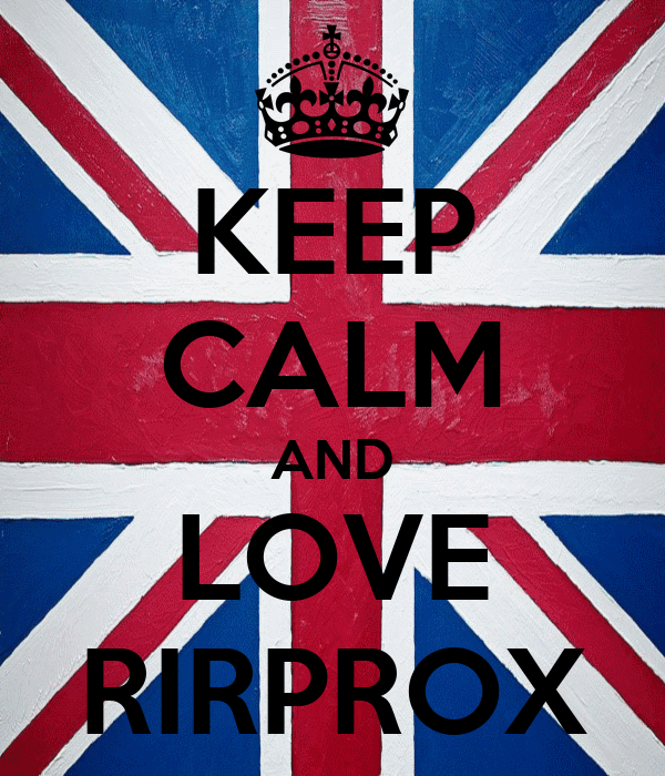 KEEP CALM AND LOVE RIRPROX