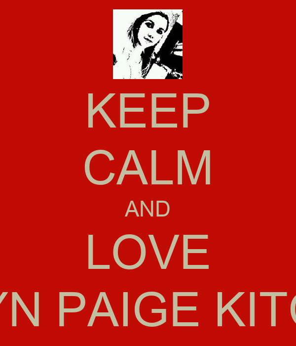 KEEP CALM AND LOVE ROBYN PAIGE KITCHEN