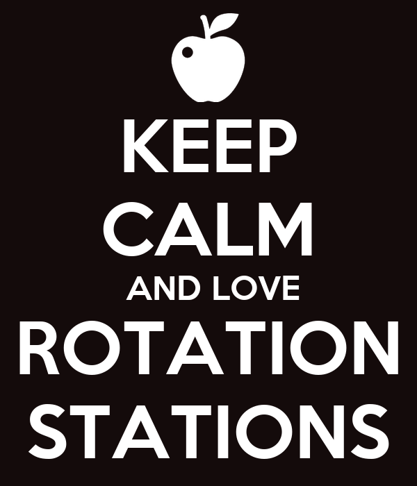KEEP CALM  AND LOVE ROTATION STATIONS