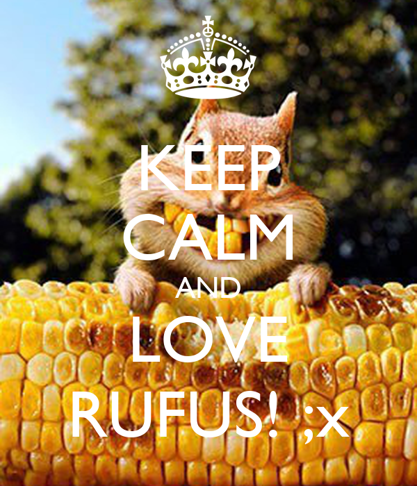 KEEP CALM AND LOVE RUFUS! ;x