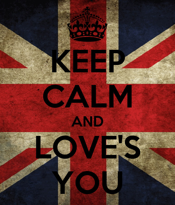KEEP CALM AND LOVE'S YOU