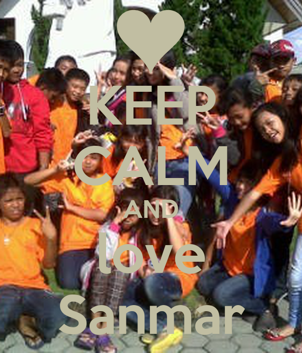 KEEP CALM AND love Sanmar