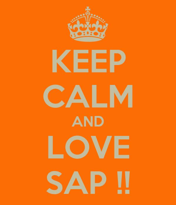 KEEP CALM AND LOVE SAP !!