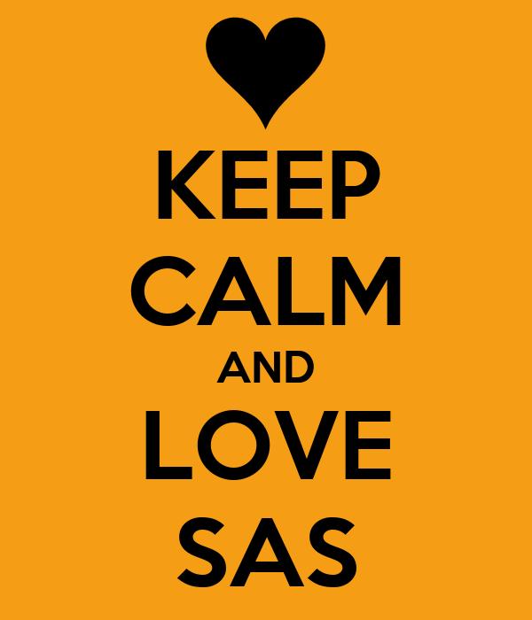 KEEP CALM AND LOVE SAS