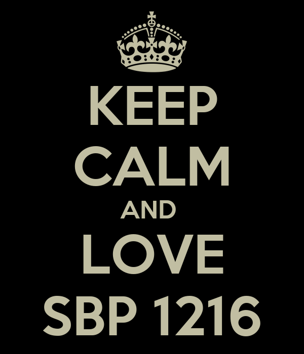 KEEP CALM AND  LOVE SBP 1216