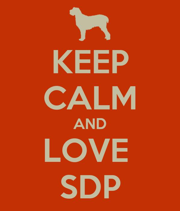 KEEP CALM AND LOVE  SDP