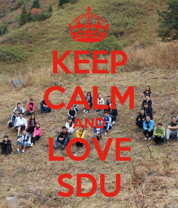 KEEP CALM AND LOVE SDU