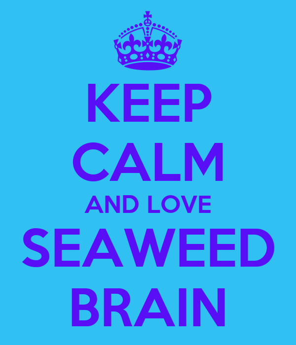 KEEP CALM AND LOVE SEAWEED BRAIN