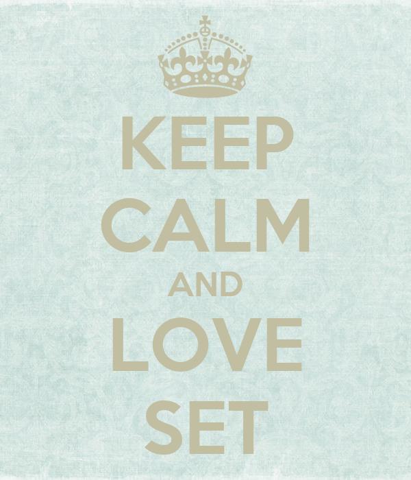 KEEP CALM AND LOVE SET