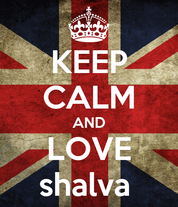 KEEP CALM AND LOVE shalva
