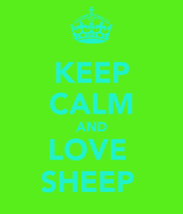 KEEP CALM AND LOVE  SHEEP