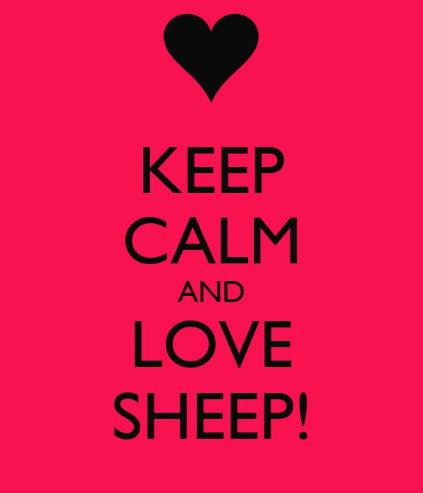 KEEP CALM AND LOVE SHEEP!
