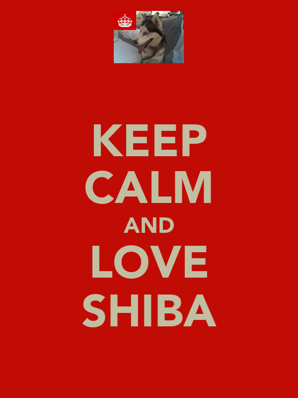 KEEP CALM AND LOVE SHIBA