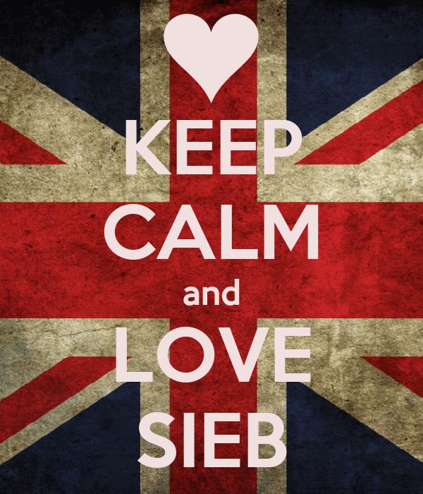 KEEP CALM and LOVE SIEB
