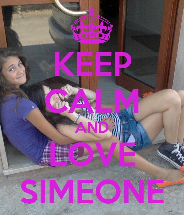 KEEP CALM AND LOVE SIMEONE