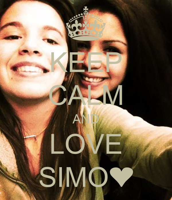 KEEP CALM AND LOVE SIMO❤