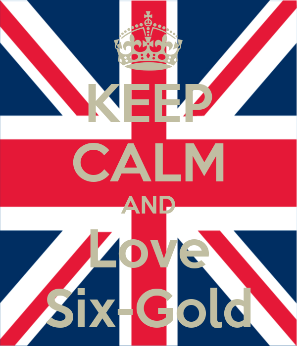 KEEP CALM AND Love Six-Gold