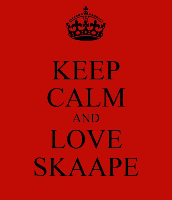 KEEP CALM AND LOVE SKAAPE