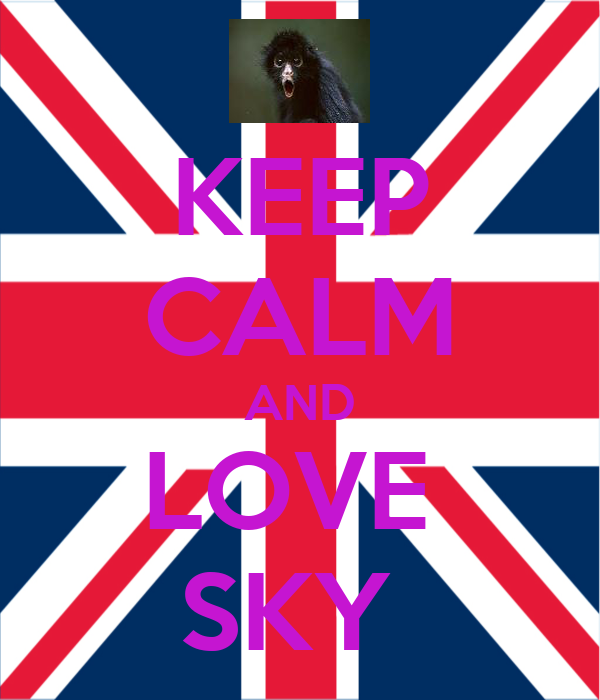 KEEP CALM AND LOVE  SKY