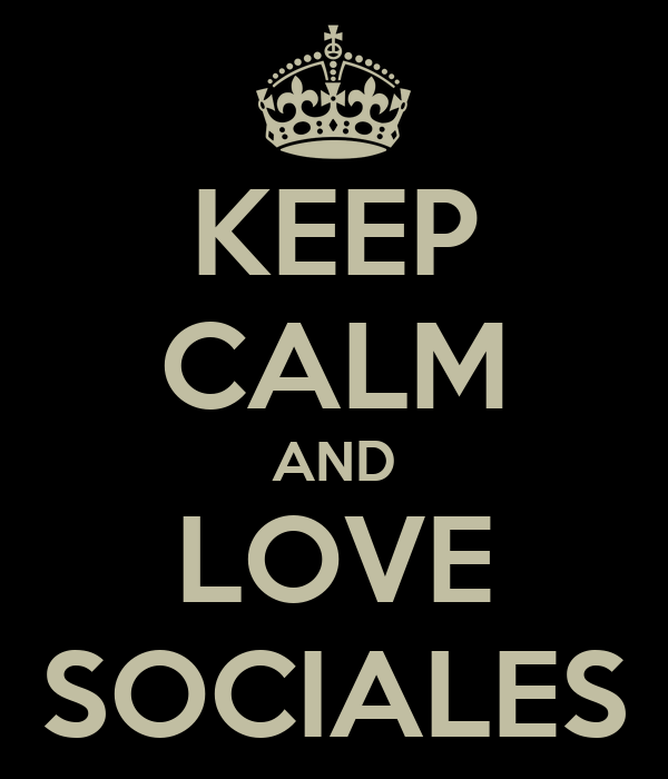 KEEP CALM AND LOVE SOCIALES