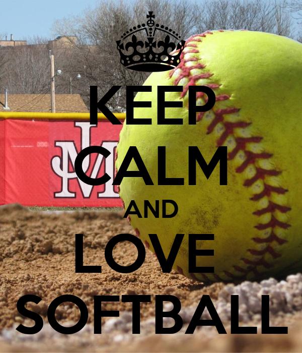 keep calm and love softball poster megan