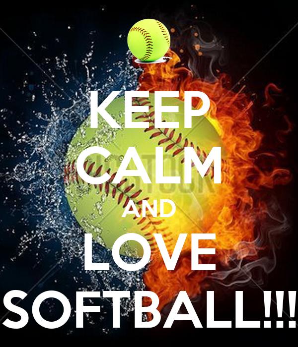 keep calm and love softball poster someone keep