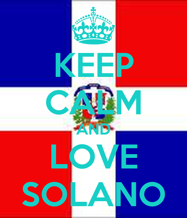 KEEP CALM AND LOVE SOLANO