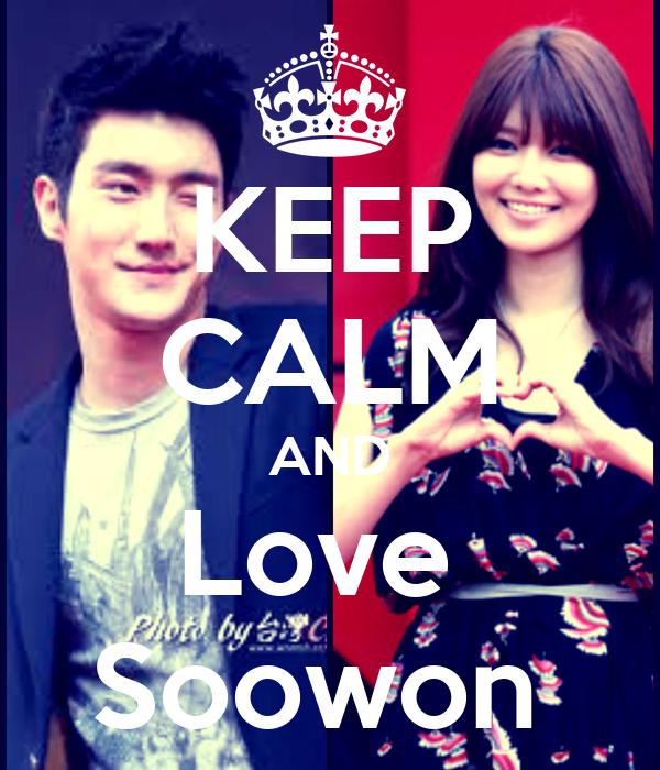 KEEP CALM AND Love  Soowon