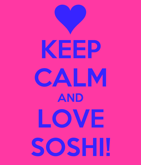 KEEP CALM AND LOVE SOSHI!